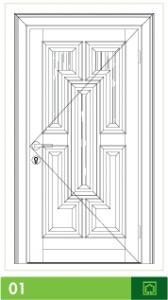 Ahşap Giriş Kapısı